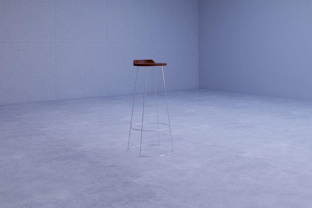 simple elegant stool chair 3D model
