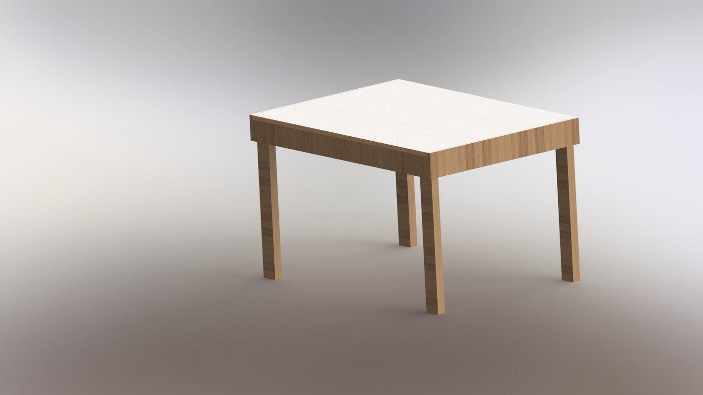 modeled wood 3D model