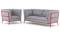 3D chairs sofa model