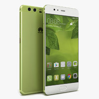 3D huawei p10 greenery model