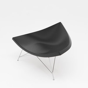 minimalist cone chair 3D model