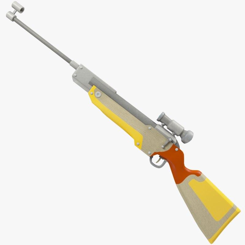 rifle biathlon 3D model