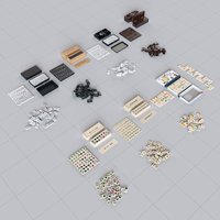 3D set dominoes model