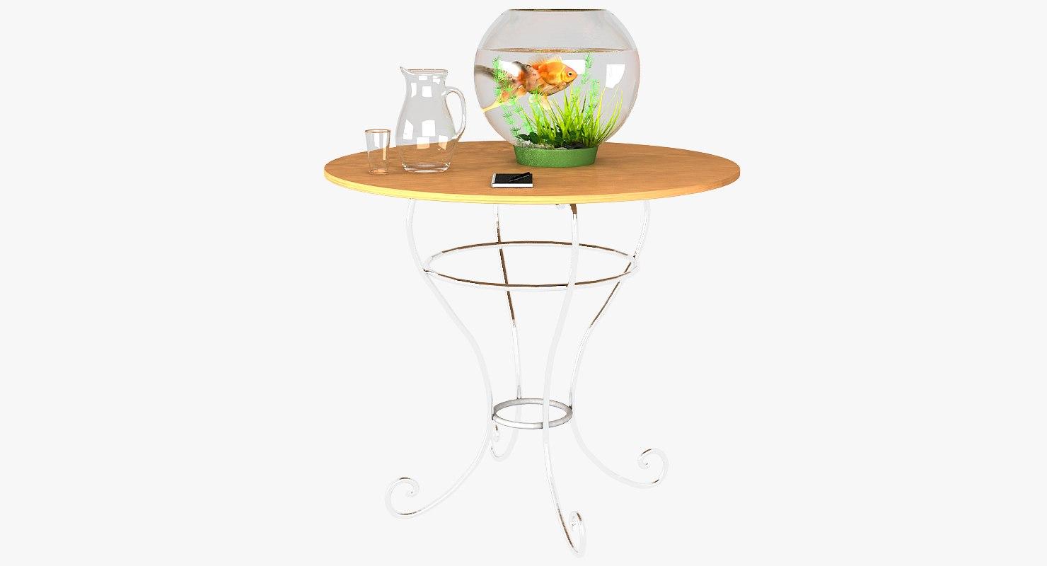 gold fish aquarium 3D