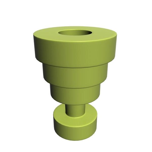 3D kartell calice vase