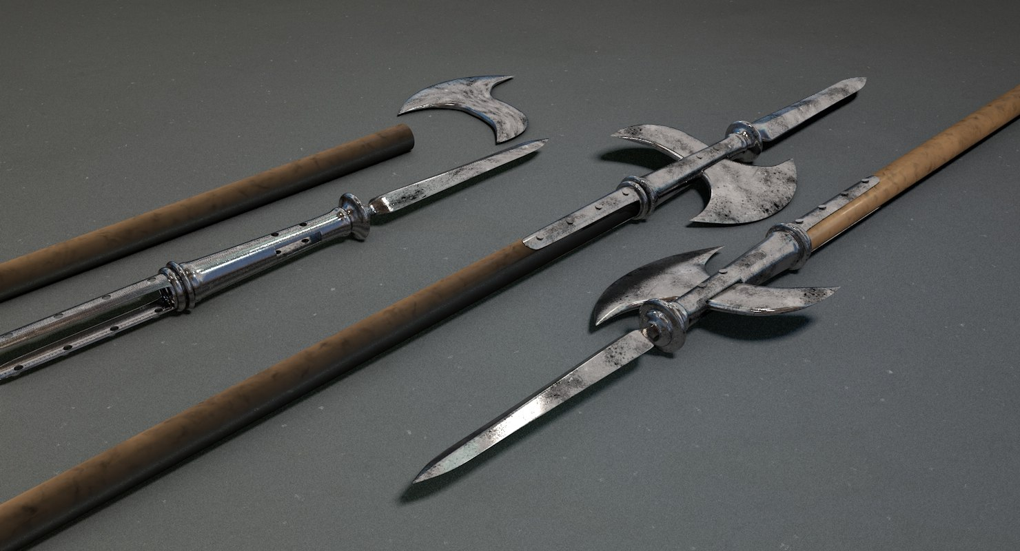 spear weapon 3D model