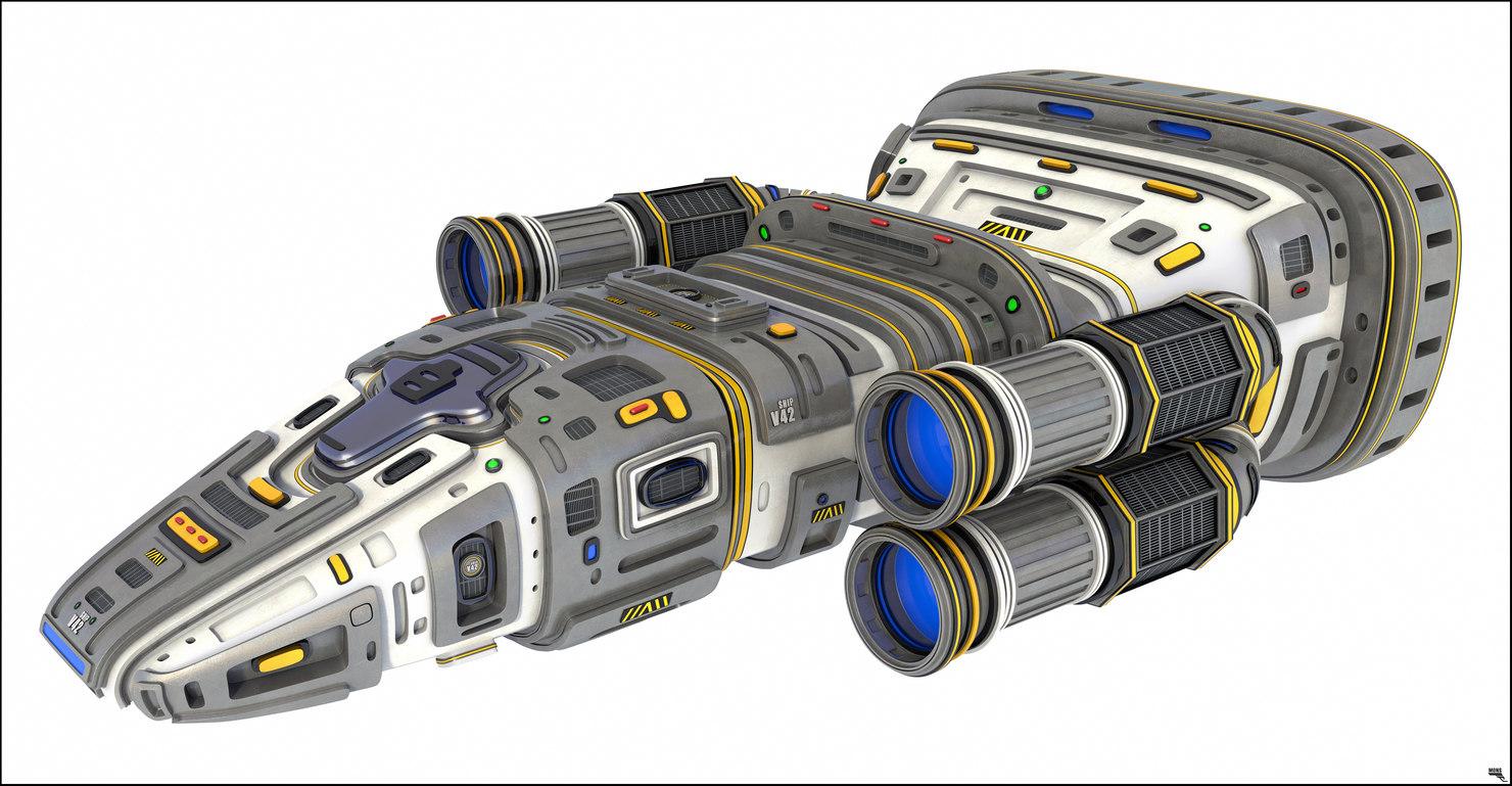 3D model space spaceship