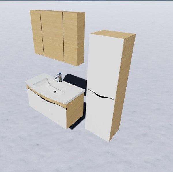 3D bathroom closet