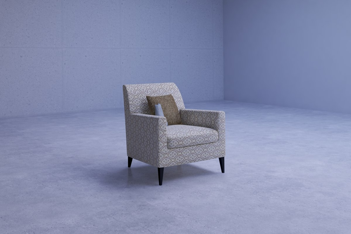 comfortable living room chair 3D model