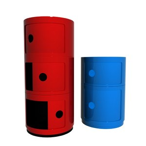 kartell componibili storage unit 3D model