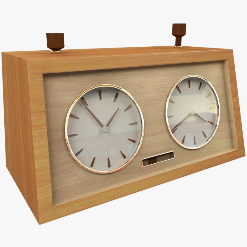 chess clock 3D