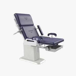 3D gynecological chair model