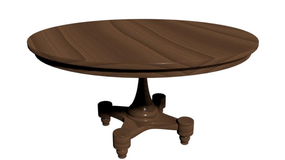wood table model
