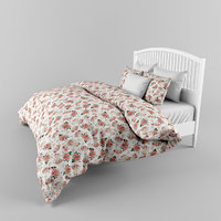 bed ikea tyssedal 3D model