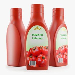 plastic ketchup bottle 3D model