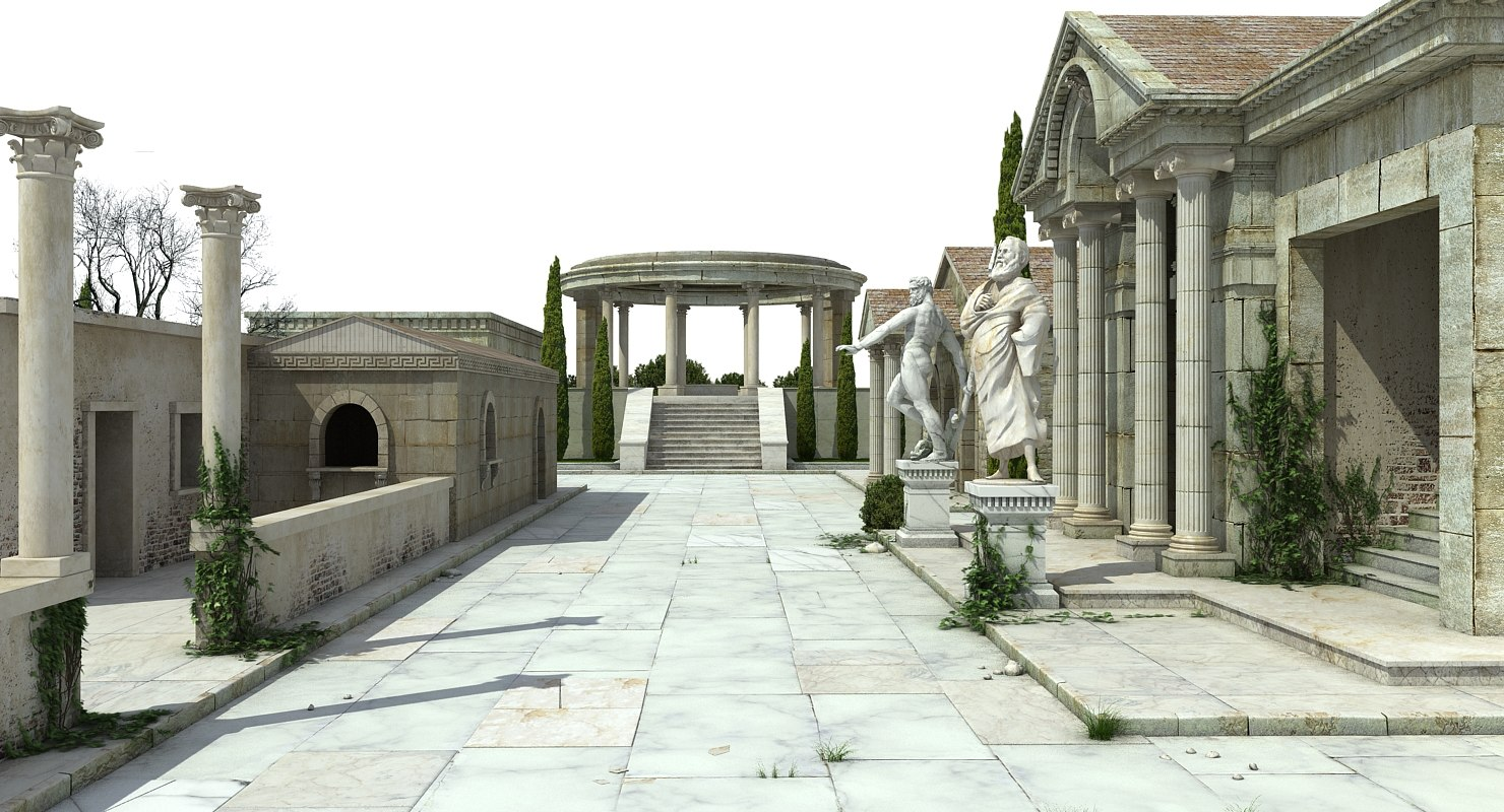 3d Greek Architecture Model Turbosquid 1215425