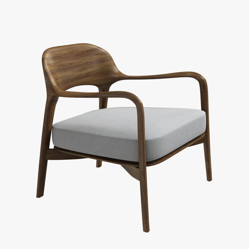 3D louis armchair porada patrick