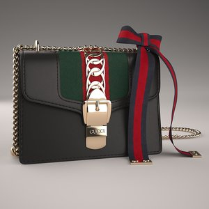 3D model gucci sylvie leather mini