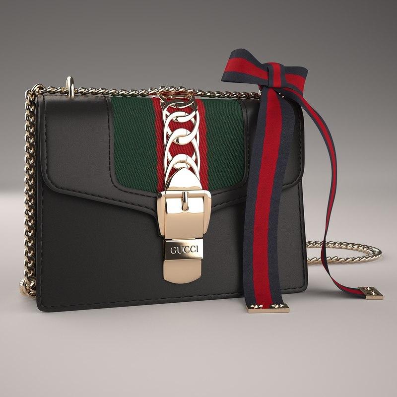 3D model gucci sylvie leather mini