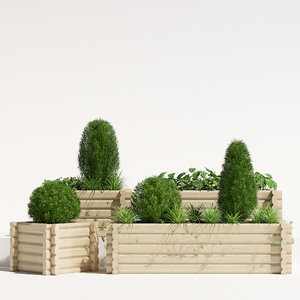 3D model pots buildround planter
