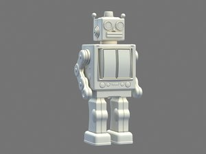 3D classic toy robot
