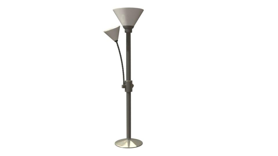 metal lamp rig 3D model
