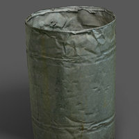 metal barrel 3D