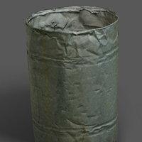 metal barrel 3D