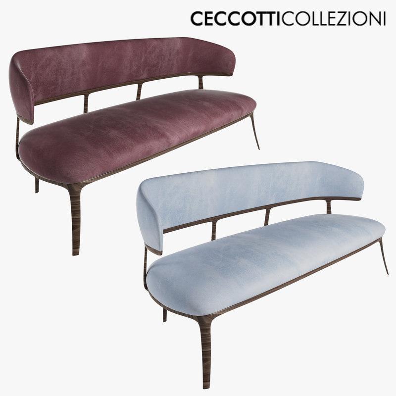 3D ceccotti peggy g sofa model