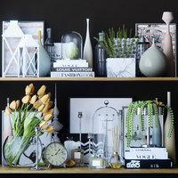 shelves decor set 3D model