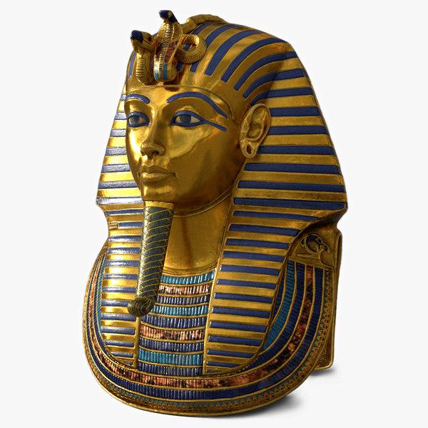 tutankhamun mask 3D model