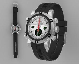 3D sport watch weide model
