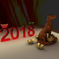 chinese zodiac dog 3D model