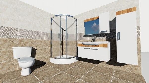 bathroom render 3D model