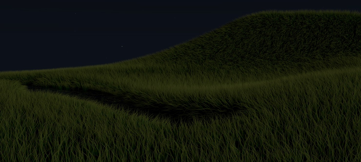 stunning realistic glade low-poly 3D model
