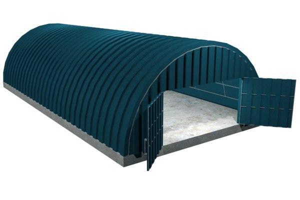 hangar games pbr 3D model