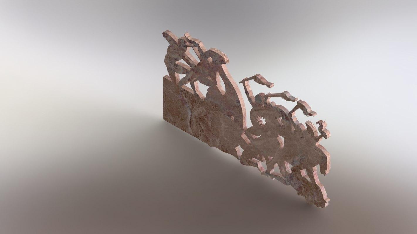 3D modeled marble decor