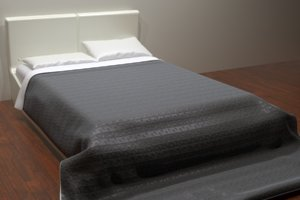 bed lucca 2 color 3D model