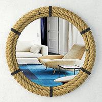 3D rope framed industrial mirror model