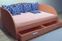 bed study sofa 3 3D
