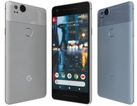 3D google pixel 2 colors model