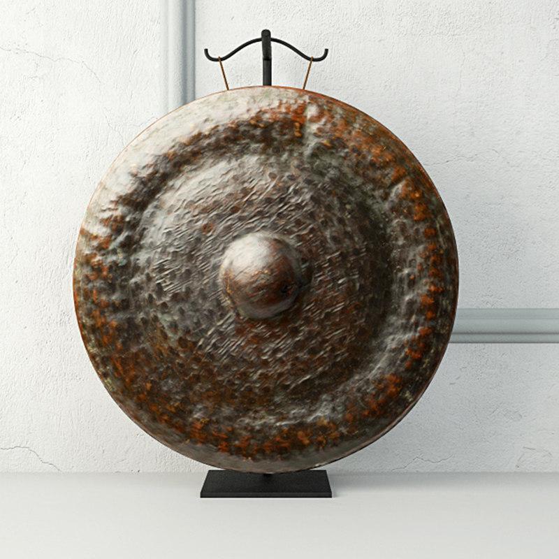 19th century laos bronze 3D model