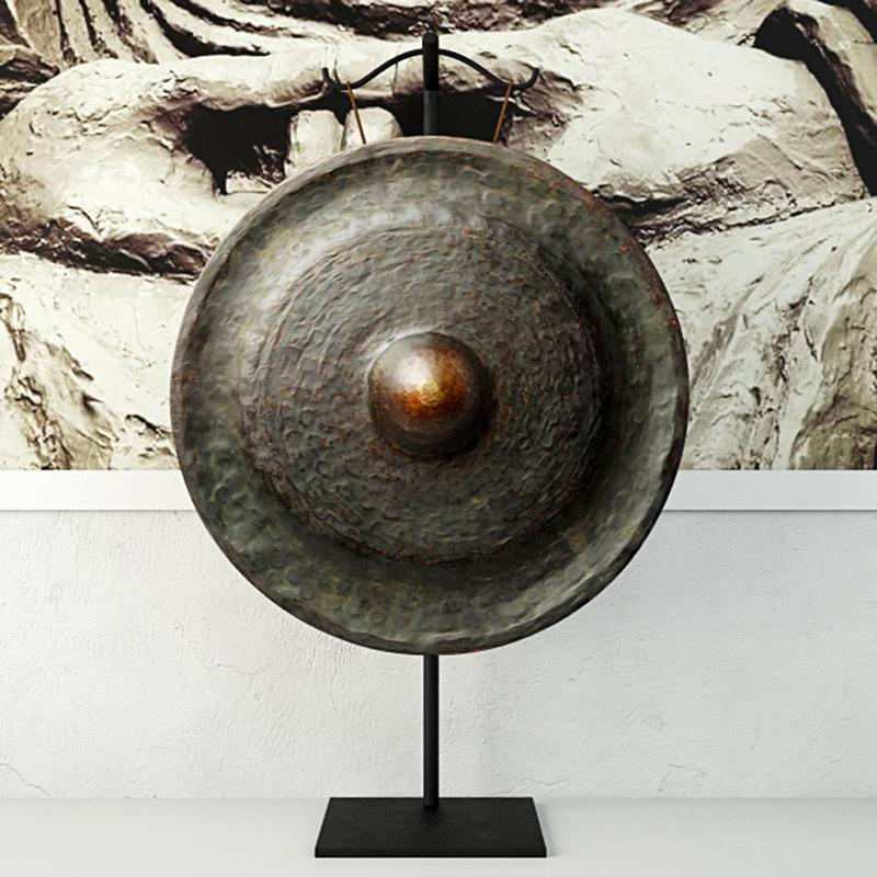 3D 19th century laos bronze