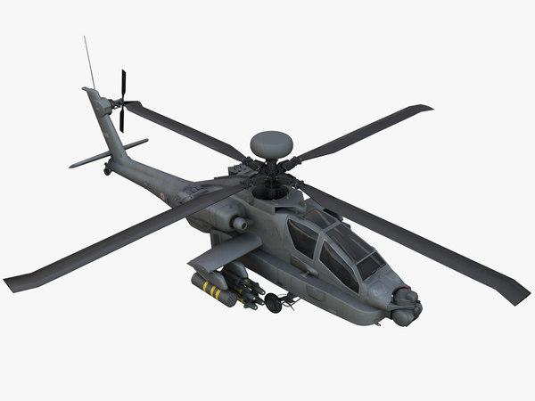 3D boeing ah-64d apache longbow