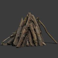 campfire asset 3D model