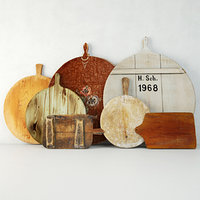 3D antique cutting boards model