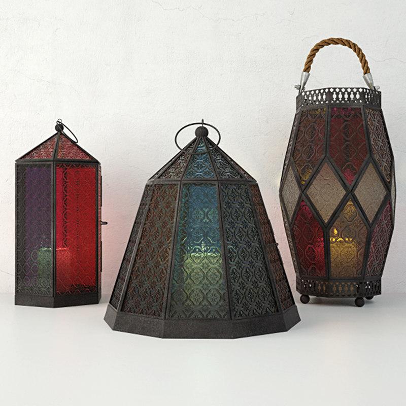 iron lanterns 3D