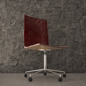 3D model interior scene office chair