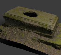 tombstone asset 3D model