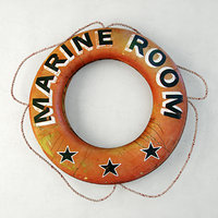 nautical marine room life preserver 3D model